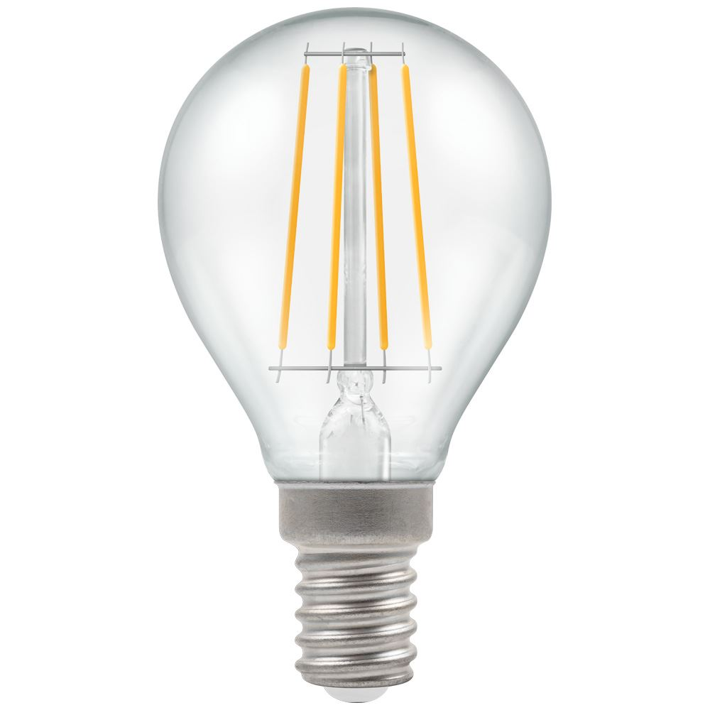 LED Round Filament Clear • Dimmable • 5W • 2700K • SES-E14