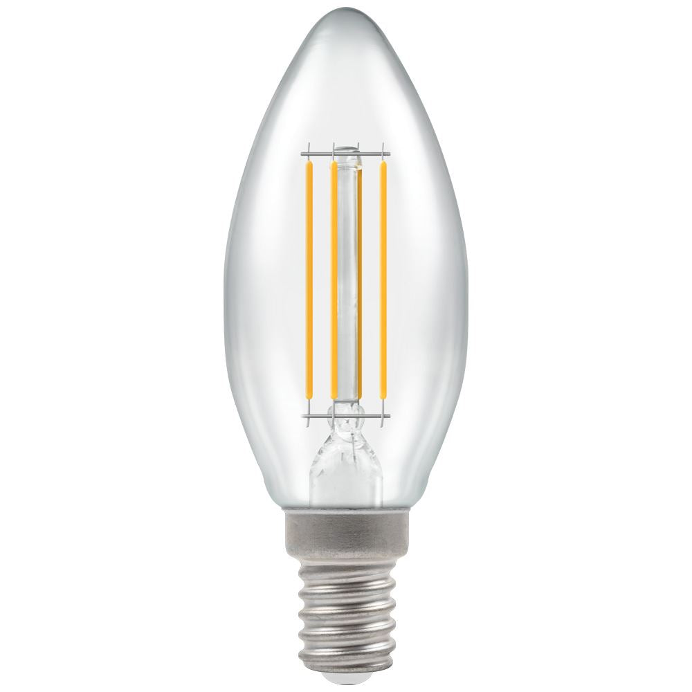LED Candle Filament Clear • Dimmable • 5W (40W) • 2700K • SES-E14