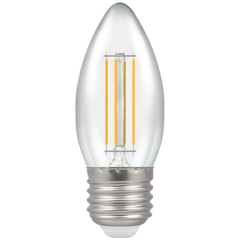 LED Candle Filament Clear • Dimmable • 5W (40W) • 2700K • ES-E27