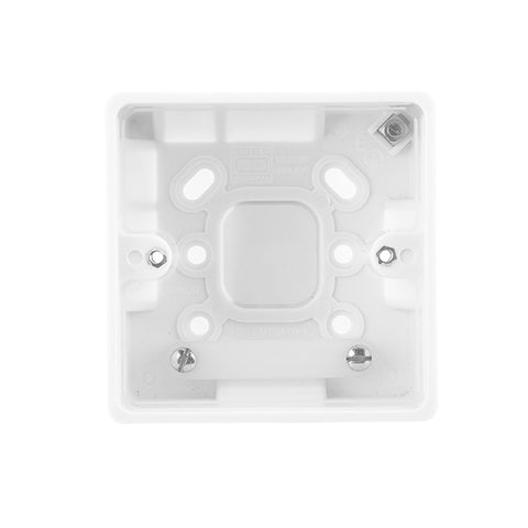 1 Gang 50mm White Moulded Surface Box