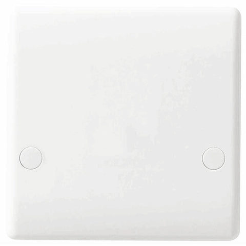 White Moulded Slimline 45A Cooker Outlet Plate