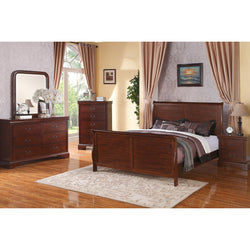 Marilyn Walnut Sleigh Bed