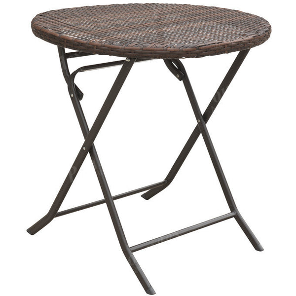 Resin Wicker Foldable Table