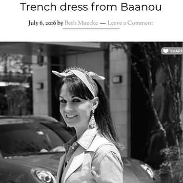 Bethie Life: Trench Dress Baanou River Oaks District Houston Texas Shopping Center Shop Local