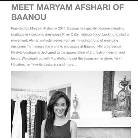 House Account Meet Baanou Maryam Afshari Questionnaire