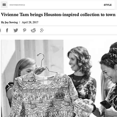 Houston Chronicle: Vivian Tam Brings Houston-Inspired Collection to Houston