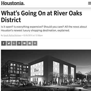 Houstonia Magazine What's Going On At River Oaks District Baanou Houston Texas Shopping Center Boutique