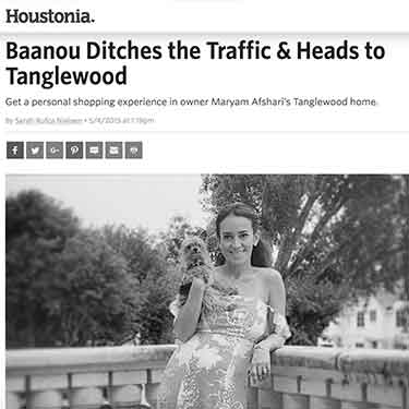 Houstonia Magazine Baanou Ditches the traffic moves to Tanglewood
