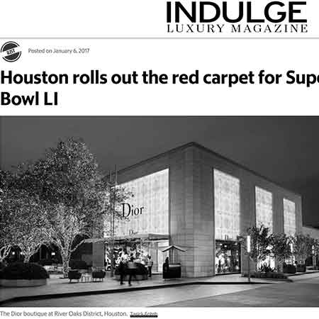 IndulgeDFW: Houston Rolls Out Red Carpet for Super Bowl LI