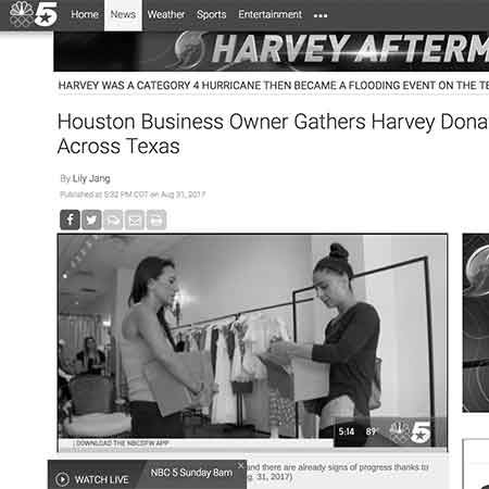 NBC: Boutique Owner Gathers Harvey Donations Across Texas