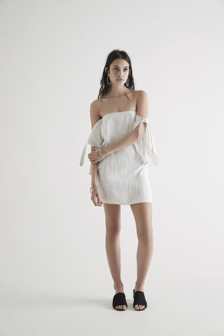 SIR Bella Mini Dress White