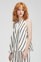 Finders Keepers Windsor Top White Base Spot Print