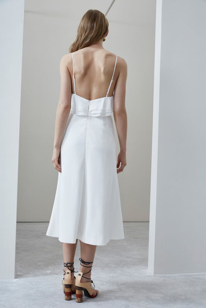 C/MEO Fading Nights Fitted Dress Ivory
