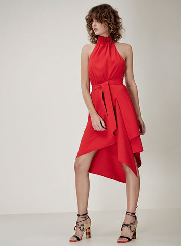 C/MEO Out of Line Dress Cherry
