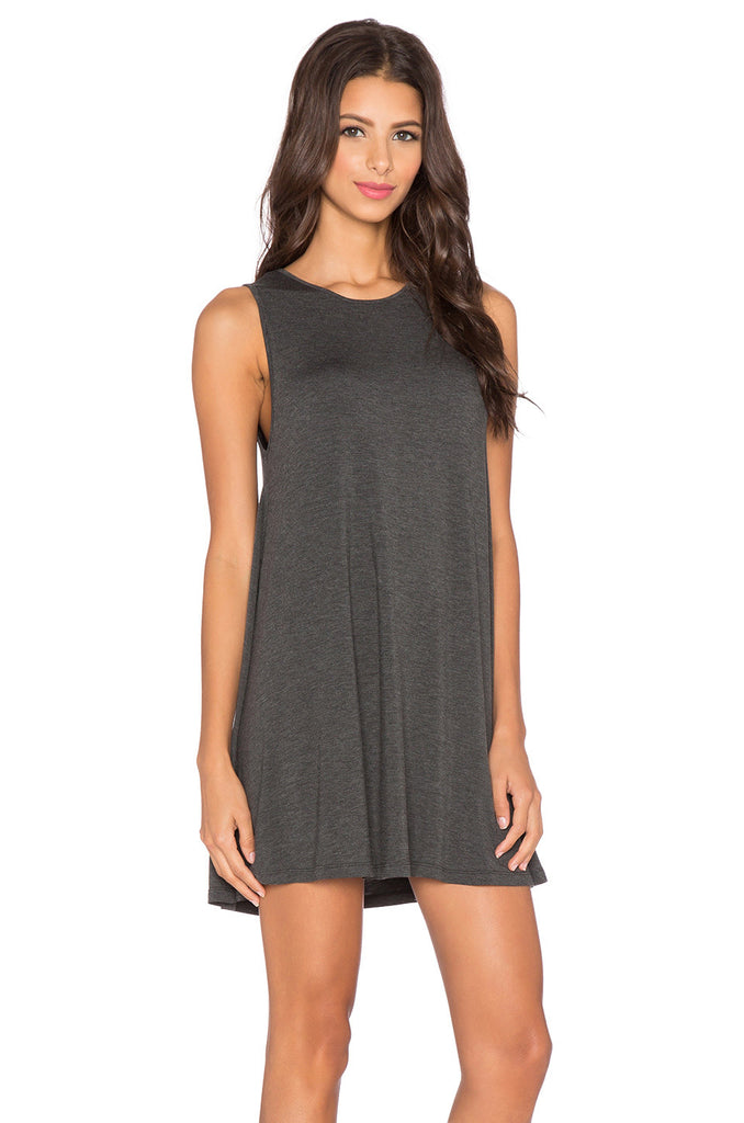 BLQ Tank Swing Mini Dress - Charcoal