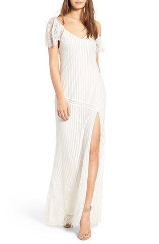 Stone Cold Fox Fiori Gown - White Lace