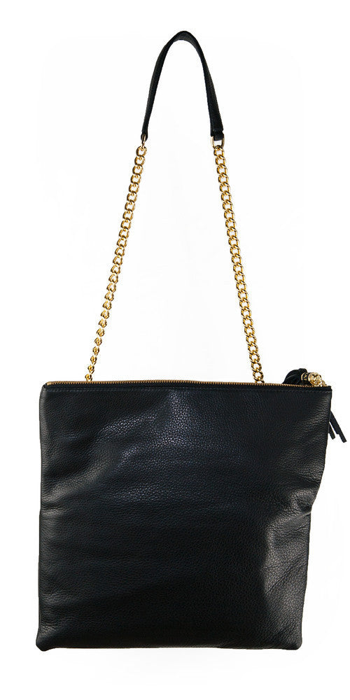 Shanaz Black Convertible Clutch Bag