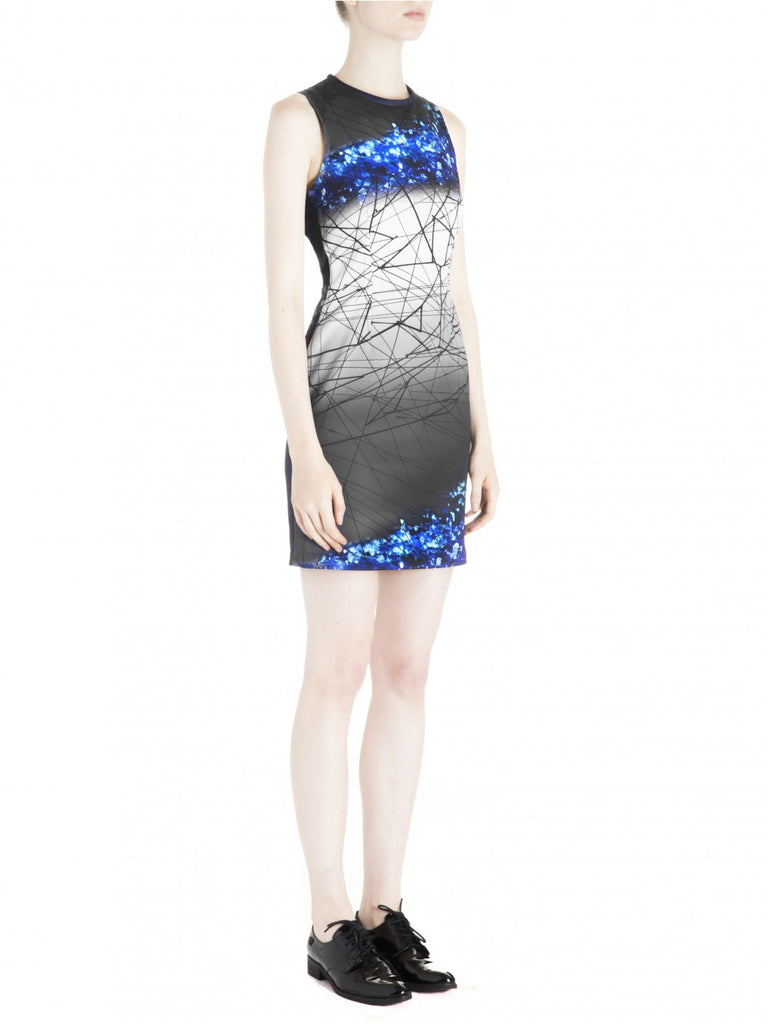 Cut25 by Yigal Azrouel Open Back Printed Scuba Dress