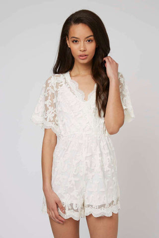 Glamorous Lace Layer Playsuit