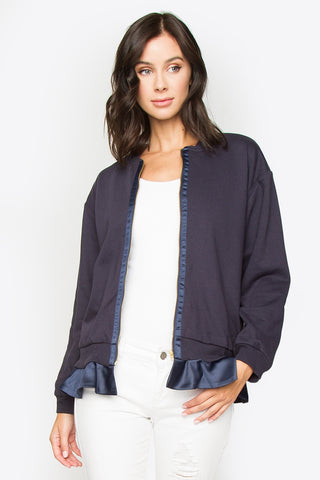 Bridgette Blue Bomber Jacket