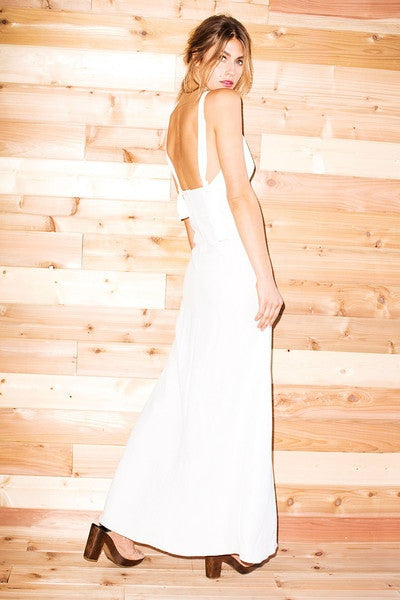 Stone Cold Fox Palms Gown - White