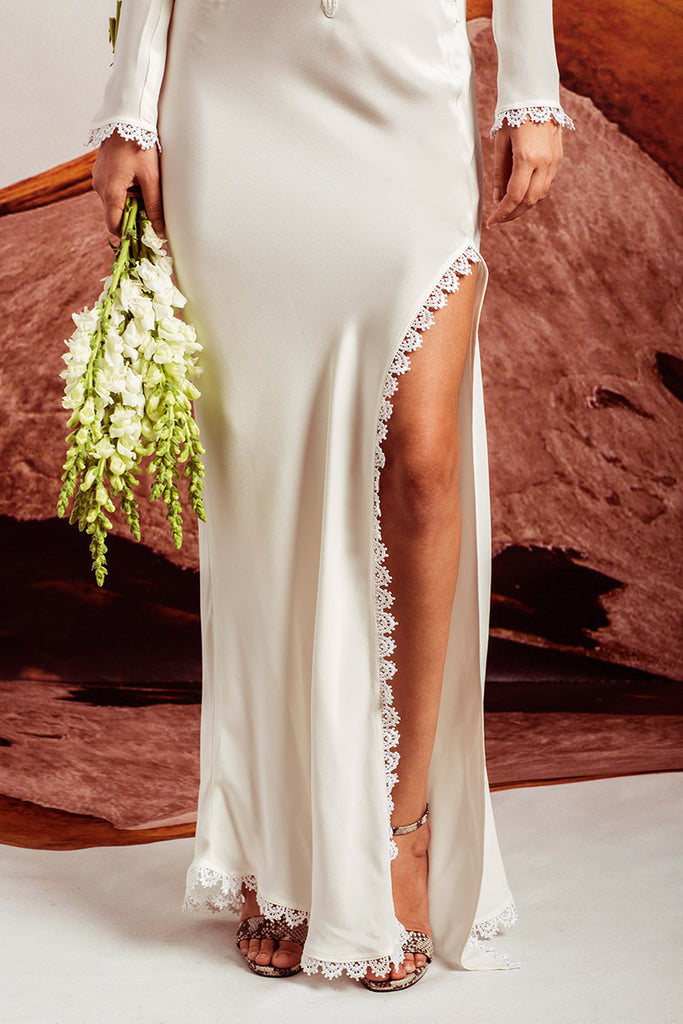 Stone Cold Fox Alabama Gown White