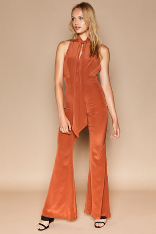 Stone Cold Fox Positano Jumpsuit Burnt Orange