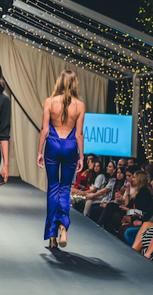 BAANOU The Label Alessandra Jumpsuit Indigo Silk