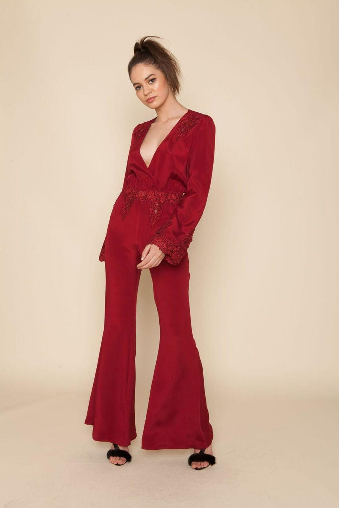Stone Cold Fox Bella Jumpsuit Red