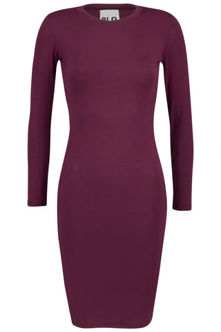 BLQ L/S Mini Dress - Bordeaux