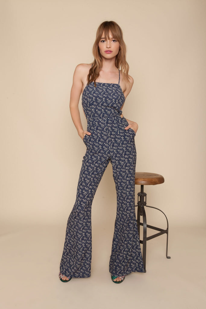 Stone Cold Fox Elle Jumpsuit Navy Fern