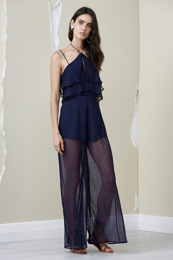Finders Keepers Mantle Jumpsuit Navy