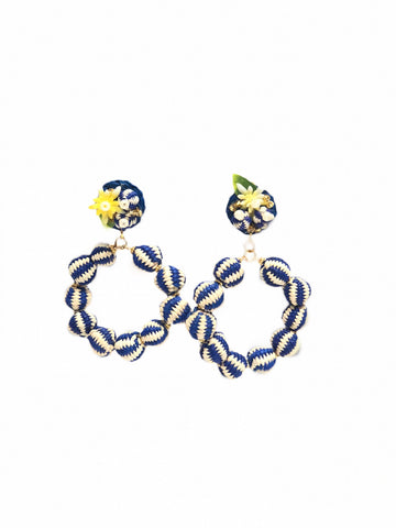 La Quijana Earring Blue and White Filigree