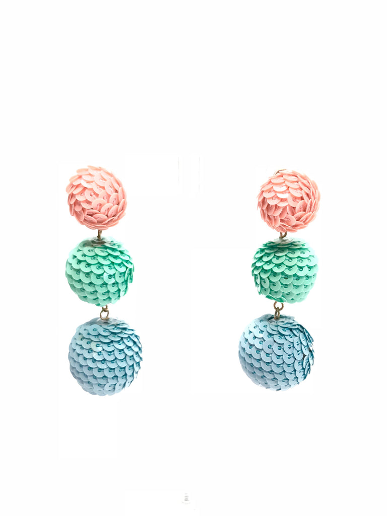 Spring Sequin Drop Earrings