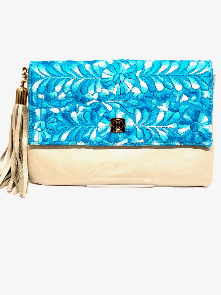 La Quijana Blue Clutch