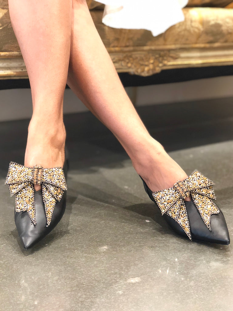 Luumahn Sequin Bow Shoe Accessory