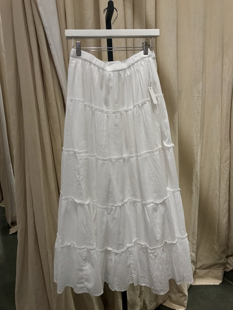 BPL White Tiered Skirt