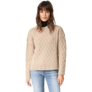 Finders Keepers Odom Cable Knit Sweat