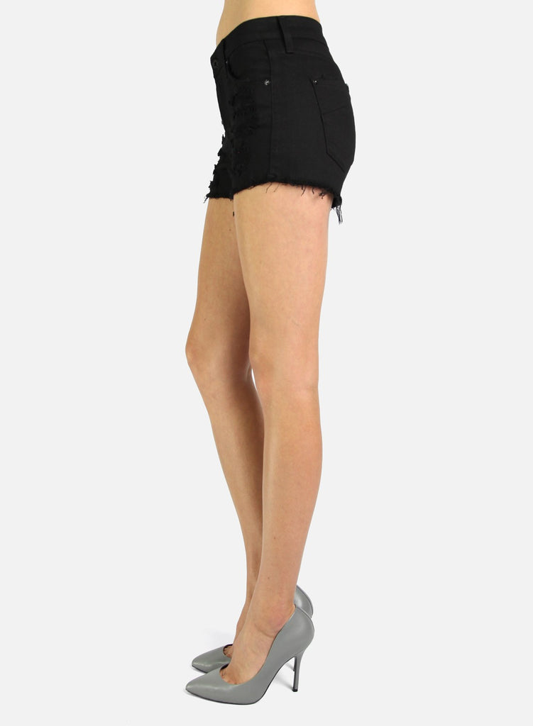 James Jeans Shorty Destroyed Black
