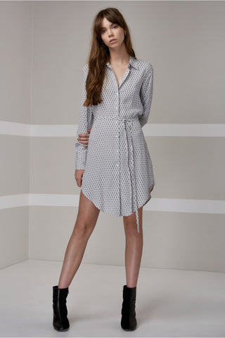 The Fifth Crystal Nights Shirt Dress Light Diamond Print