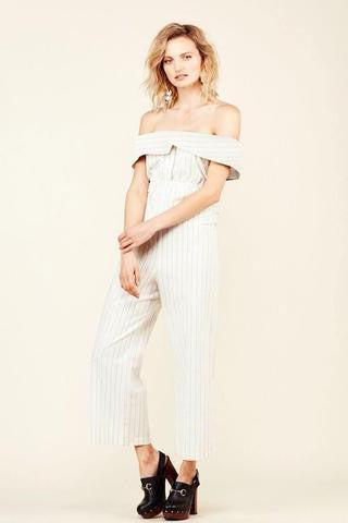 Stone Cold Fox Oxford Jumpsuit Pin Stripe