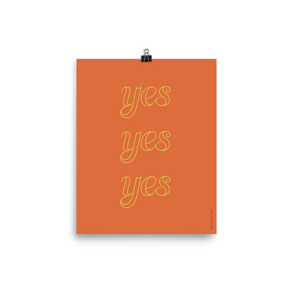 """YES YES YES"", Minimal & Modern Poster"