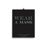 """WEAR A MASK: Prevent the Spread of Germs"", Minimal & Modern Poster"