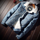 ZOGAA Hot Sale Men Jacket and Coat Trendy Warm Fleece Denim Jacket 2018 Winter Fashion Men Jean Jacket Outwear Male Cowboy