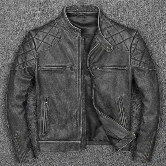 Mens leather jacket on sale