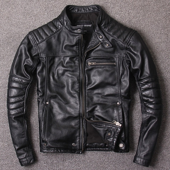 Ribbed Leather Jacket
