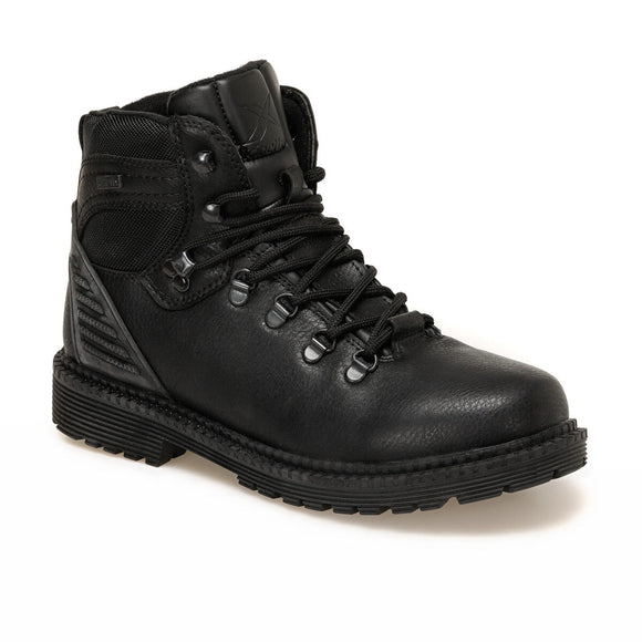 Heavy duty all purpose black leather boot