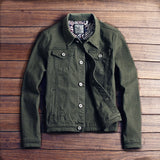 Slim fit street style denim jacket