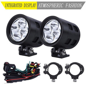 LDDCZENGHUITEC Different colors Motorcycle LED Spotlights  56W DC9-32V Accesories Daytime Running Light
