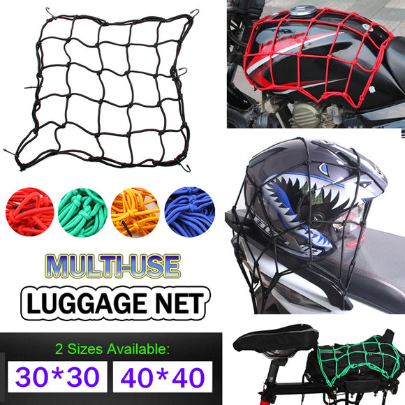 Heavy-Duty Elastic Motorcycle Luggage Net - Free Shipping